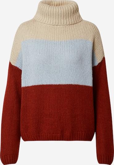 ONLY Jersey 'MANHATTAN' en beige / azul claro / rojo oscuro, Vista del producto