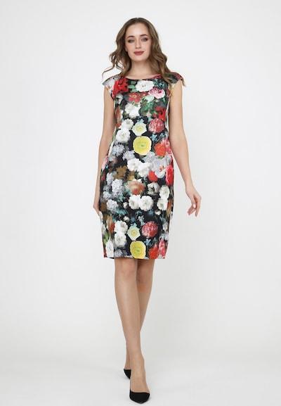 Madam-T Sommerkleid 'MUTALA' in rot / schwarz / weiß, Modelansicht