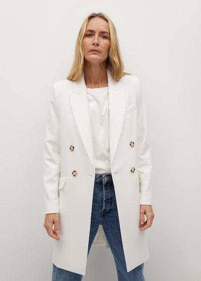 Palton de primăvară-toamnă 'sugus' MANGO pe alb, Vizualizare model