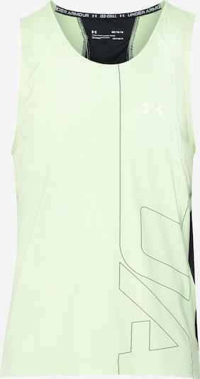 UNDER ARMOUR Funktionsshirt in hellgrau / neongrün / schwarz, Produktansicht