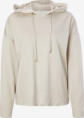 s.Oliver BLACK LABEL Sweatshirt in Beige