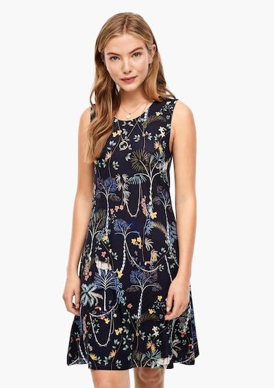 s.Oliver Kleid in nachtblau / mischfarben, Modelansicht