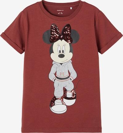 NAME IT T-Shirt 'Minnie Carin' en beige / rose / rouge rouille / noir, Vue avec produit