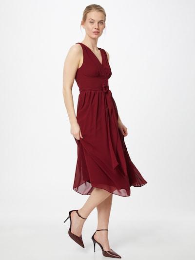 TFNC Kleid 'ELOIS' in burgunder, Modelansicht
