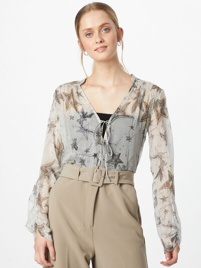 PATRIZIA PEPE Blouse in de kleur Nude / Camel / Transparant, Modelweergave