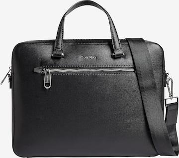 Sac d'ordinateur portable Calvin Klein en noir