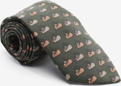 HERMÈS Krawatte in One Size in braun / dunkelgrün, Produktansicht