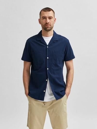 SELECTED HOMME Overhemd in de kleur Navy: Vooraanzicht