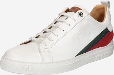 La Martina Sneaker  'Calf ' in navy / dunkelgrün / rot / weiß, Produktansicht