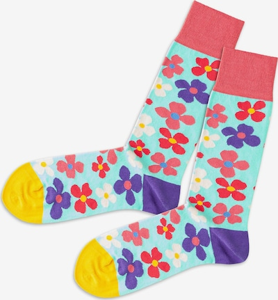 DillySocks Socks in Turquoise / Yellow / Purple / Red / White, Item view