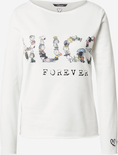 PRINCESS GOES HOLLYWOOD Sweat-shirt 'Snoopy Hugs Sweaty' en mélange de couleurs / blanc, Vue avec produit