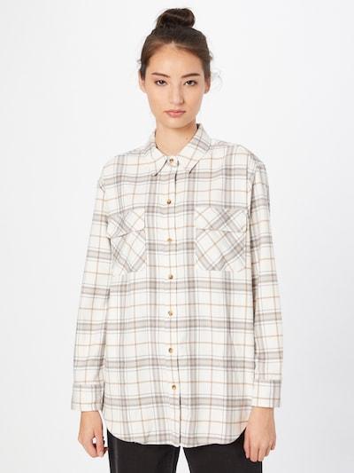 Abercrombie & Fitch Bluse in hellbraun / graumeliert / weiß, Modelansicht