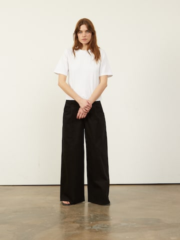 Aligne Bandplooi jeans 'Connie' in Zwart