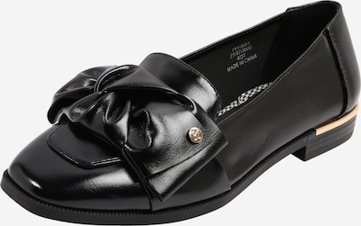 River Island Slipper 'Tie Bow Loafer' in schwarz, Produktansicht