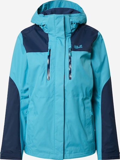 JACK WOLFSKIN Outdoorová bunda 'JASPER' - námořnická modř / aqua modrá, Produkt
