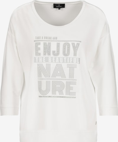 monari Sweatshirt in de kleur Zilver / Offwhite, Productweergave