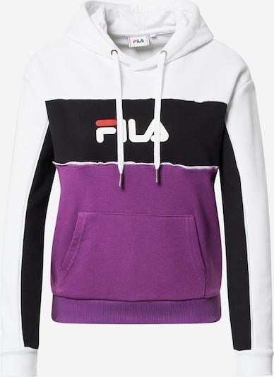 FILA Sweatshirt 'AQILA' in de kleur Lichtlila / Watermeloen rood / Zwart / Wit, Productweergave