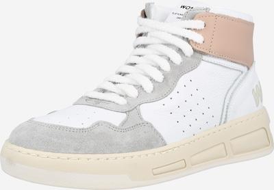 WOMSH Augstie brīvā laika apavi 'SUPER ROSE BLUSH', krāsa - bēšs / pelēks / balts, Preces skats