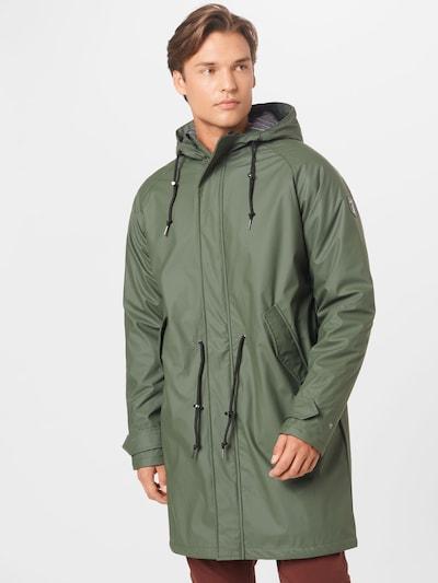 Derbe Manteau mi-saison 'Friese_Traveby_pinstripe' en olive, Vue avec modèle
