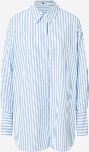 NA-KD Bluse in hellblau / weiß, Produktansicht