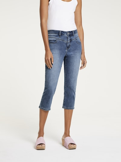 Linea Tesini by heine Jeans in blue denim, Modelansicht