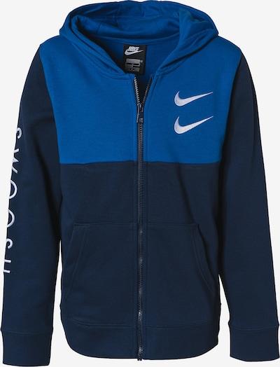 Nike Sportswear Sweatjacke 'Swoosh' in navy / royalblau / weiß, Produktansicht