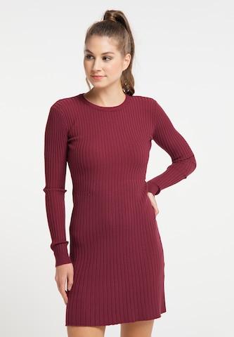 MYMO Gebreide jurk in Rood