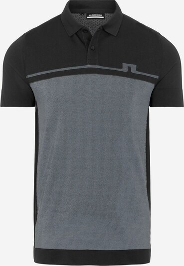 J.Lindeberg Poloshirt in dunkelgrau / schwarz, Produktansicht