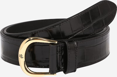 Lauren Ralph Lauren Belt 'Kenton' in Gold / Black, Item view