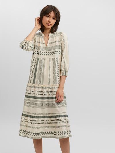 VERO MODA Kleid in pastellgrün / naturweiß, Modelansicht