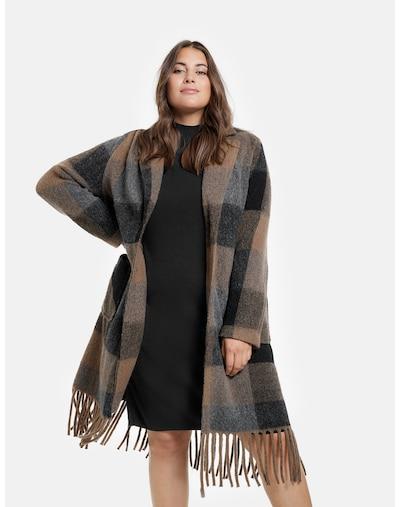 SAMOON Mantel in beige / graumeliert / schwarz, Modelansicht