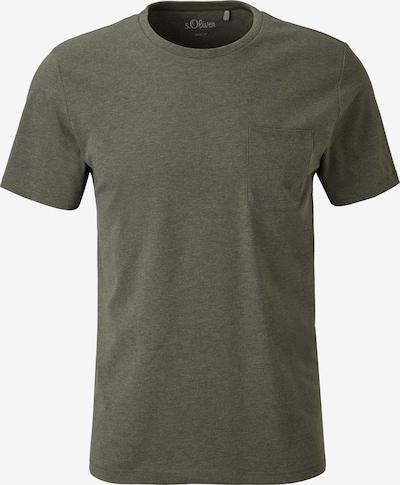 s.Oliver Shirt in de kleur Kaki: Vooraanzicht