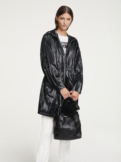 heine Between-seasons coat in Black, View model