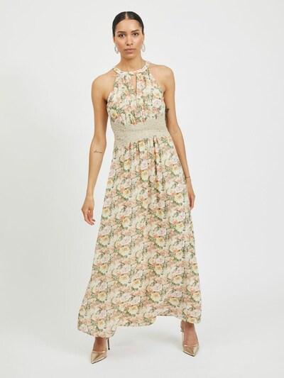 VILA Kleid in kitt / hellgrün / rosa / weiß, Modelansicht