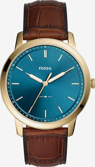 FOSSIL Uhr in blau / braun / gold, Produktansicht