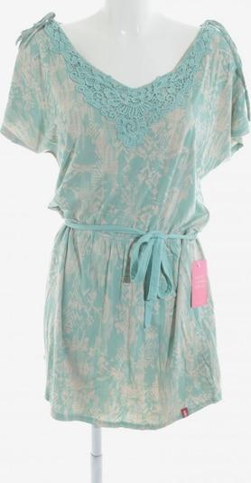 EDC BY ESPRIT Shirtkleid in M in creme / türkis: Frontalansicht