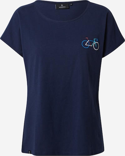 recolution Shirt in de kleur Navy / Hemelsblauw / Wijnrood / Wit, Productweergave