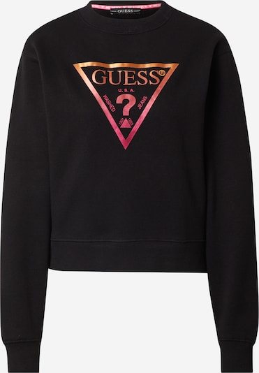 GUESS Sweatshirt in orange / rot / schwarz, Produktansicht