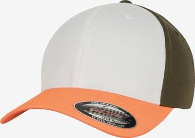 Flexfit Cap ' 3-Tone Flexfit ' in grün / orange / weiß: Frontalansicht