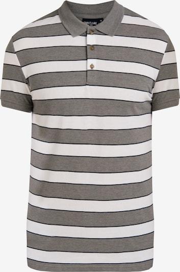 Finn Flare Poloshirt mit Streifen-Design in grau: Frontalansicht