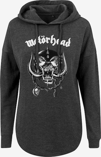 Merchcode Sweatshirt 'Motörhead' in grau / schwarz / weiß, Produktansicht