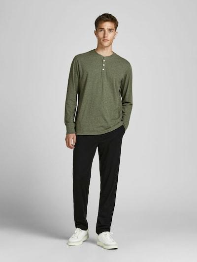 JACK & JONES Loungewear in grün / schwarz, Modelansicht