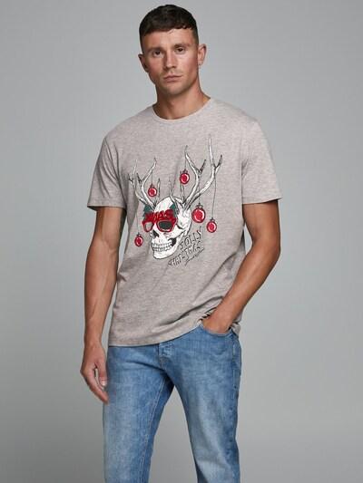 JACK & JONES Shirt in de kleur Grijs / Gemengde kleuren: Vooraanzicht