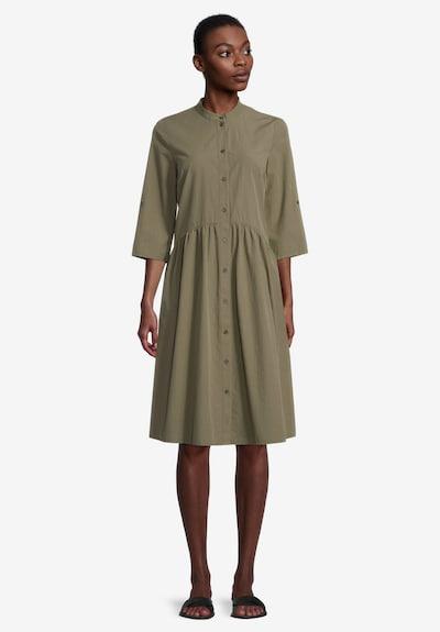 Cartoon Sommerkleid mit Kragen in grün / khaki, Modelansicht