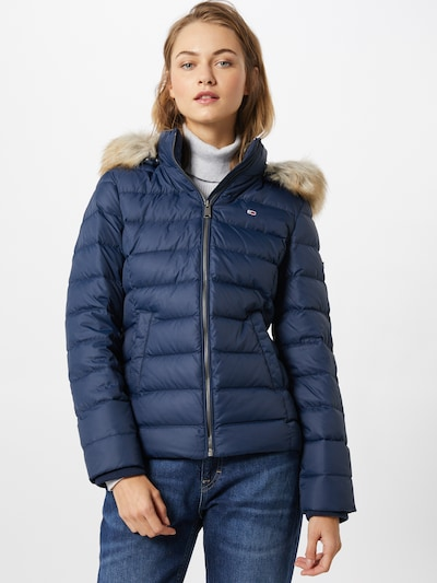 Tommy Jeans Vinterjakke 'TJW BASIC HOODED DOWN JACKET' i navy, Modelvisning
