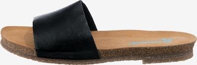 Greenova Pantolette in braun / schwarz, Produktansicht