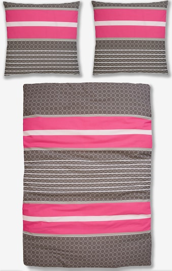 MY HOME Bettwäsche in braun / pink / weiß, Produktansicht