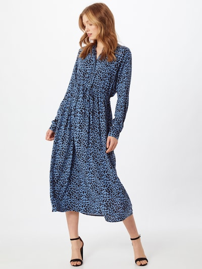 Moves Kleid 'Tanisa' in rauchblau / schwarz, Modelansicht