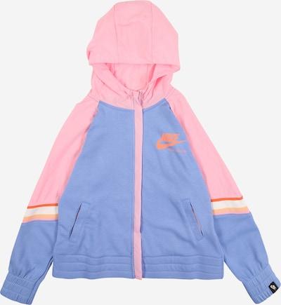 Nike Sportswear Sweatjacke in blau / lila / rosa / rot, Produktansicht