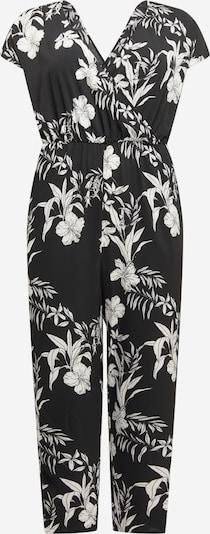 ONLY Carmakoma Jumpsuit 'Luxina' in schwarz / weiß, Produktansicht